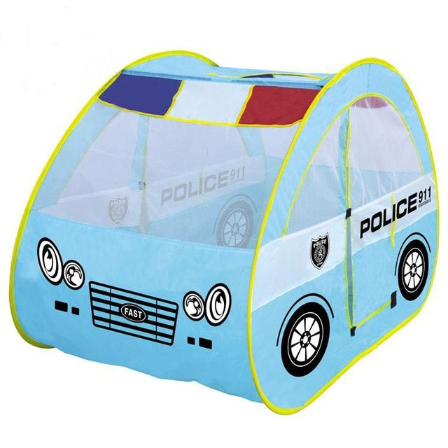 Children's Large Games Playhouse Patrol Car Shape Tent House Baby Toys Cartoon Wholesale child play tent