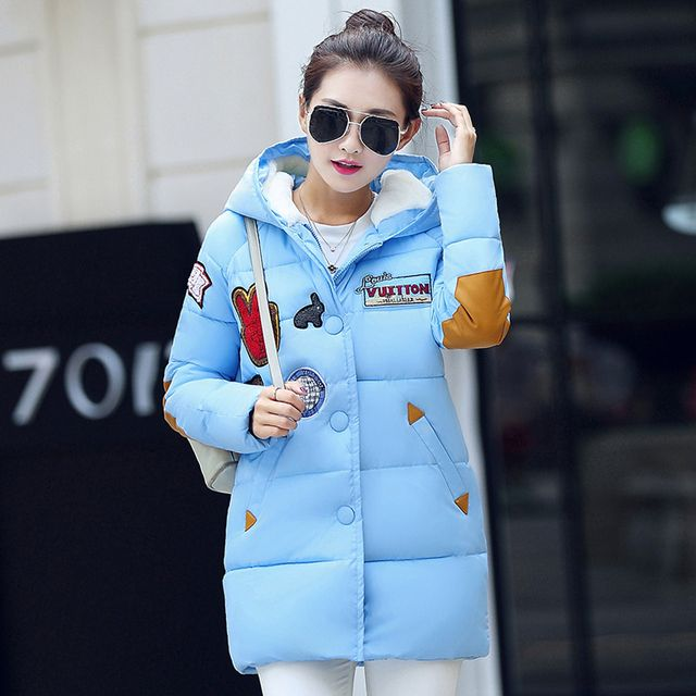 Factory Direct Sale! Winter Women Down Cotton Jacket Long Thick Parkas Female Hooded Cotton Padded Fashion Warm Coat