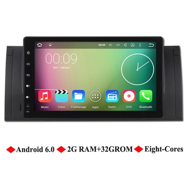"Ancluu 9"" Eight cores 2G RAM Android 6.0 Car video Player For BMW E39 X5 M5 E38 E53 Car Radio stereo GPS Navigation 4G support"