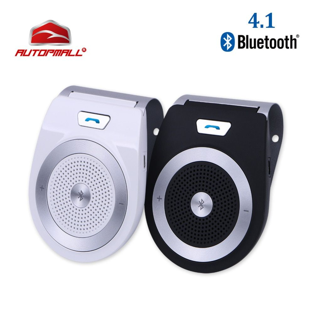 New Car Bluetooth Kit T821 Handsfree Speaker Phone Support Bluetooth 4.1 EDR Wireless Car Kit Mini Visor Can Hands Free Calls