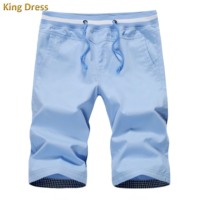 Short Real Direct Selling Mid Drawstring Chino 2016 Quality Summer Leisure Solid Color Big Size M-4xl Pure Cotton Casual Men