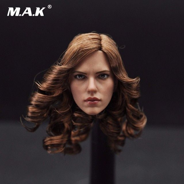 "1/6 Scarlett Johansson Female Head Sculpts Black Widow Woman Head Carving Model Toys For 12"" Female Action Figure Body Gifts"
