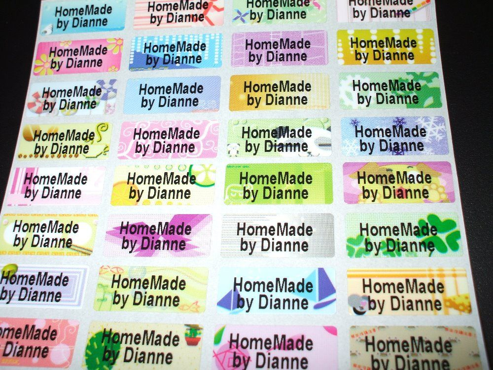 FREE SHIPPING 100 pcs Mulit Colorful Personalized Name Stickers Labels Tag Waterproof Decals Business Labels Multi Purpose
