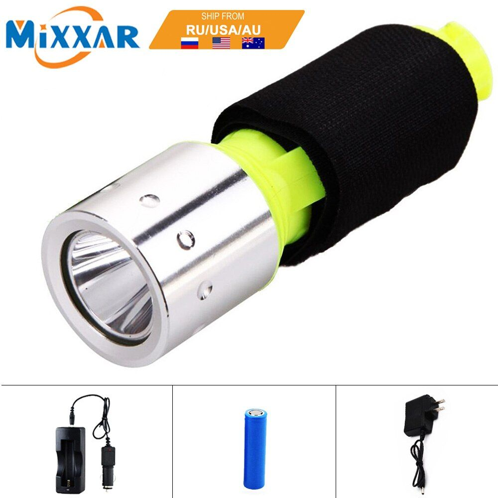 EZK30 LED Diving flashlight Underwater light Q5 Waterproof dive Flashlight Lamp Torch lantern hunting Use 1x18650 battery