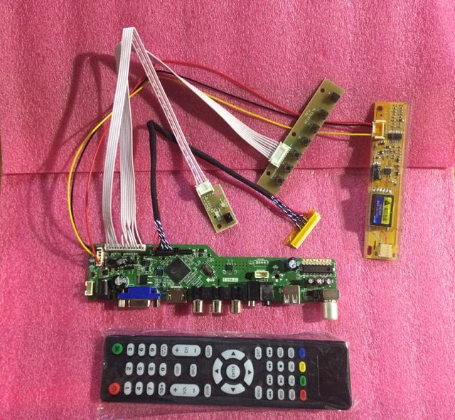 TV HDMI VGA CVBS USB LCD Controller Board T.VST59.03 T.V56.03 For LP154W01-A3 LTN154X3-L01 LVDS 1280*800 Lcd Panel 100% Test
