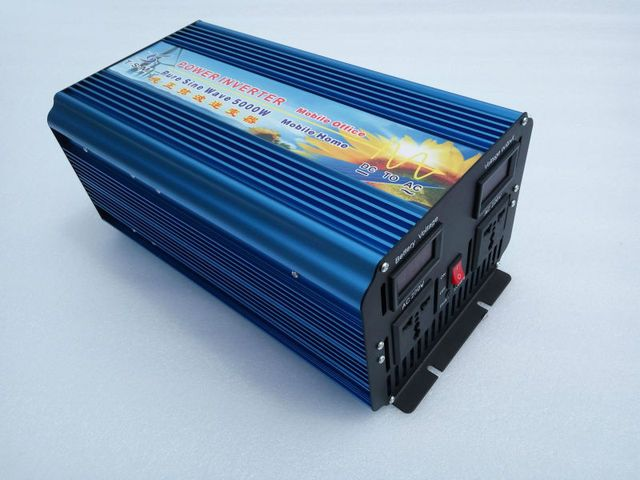 Double Digital display 5000W surge power 10000W DC12V/24V/48v to AC110V/220V Pure Sine wave Solar Inverter