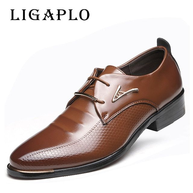 HOT Big 38 -48 2018 Men Leather Shoes Male Lace-up Pointed Toe WaterProof Fashion Soft Summer Breathable Wedding Business Shoes