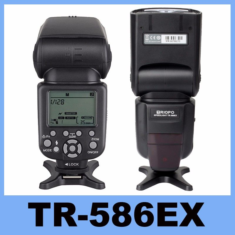Triopo TR-586EX Wireless Flash  TTL Flash Speedlight Speedlite For Nikon Canon EOS 550D 60D 6D 5D Mark II as YONGNUO YN-568EX II