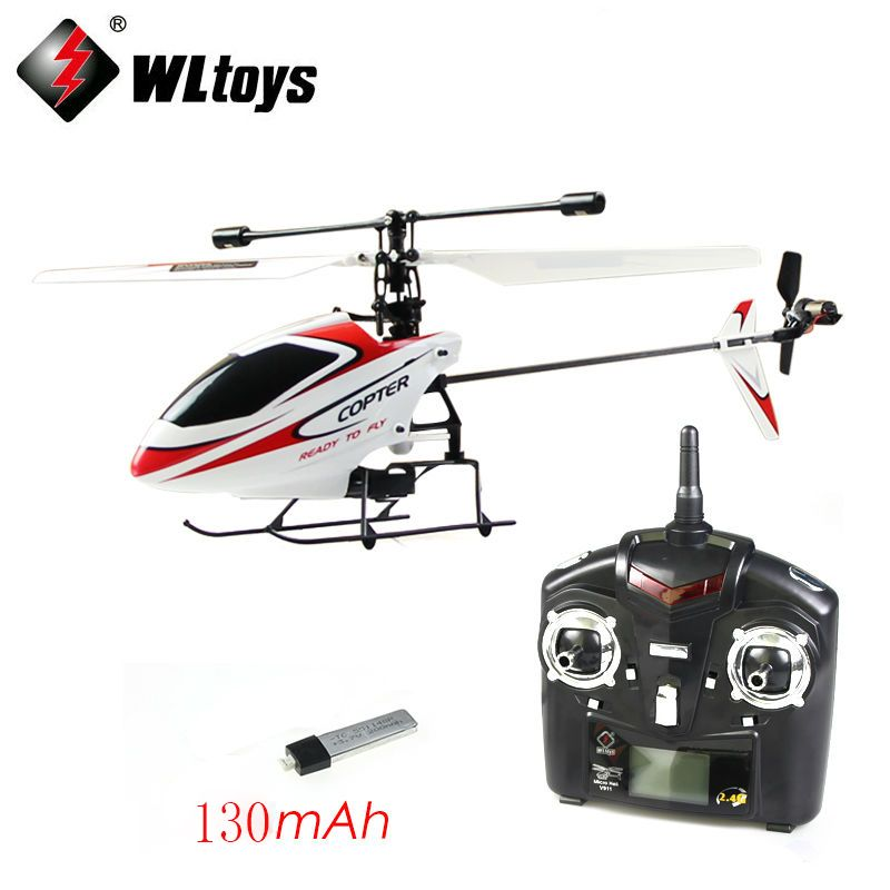 Newest WLtoys WL Upgraded Version V911 4CH 2.4G Single Blade Propeller Mini Radio RC Helicopter w/GYRO RTF Outdoor (