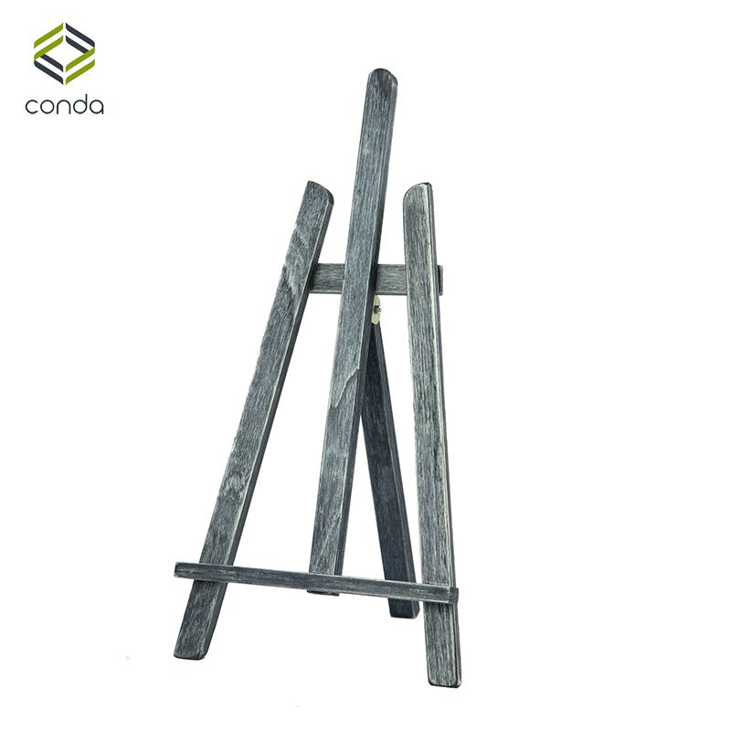 Artistic Table Easel 16inch CONDA Easel Tripod Denim Blue Mini Wooden Easels for Painting Photo Office Display Art Stand for Kid