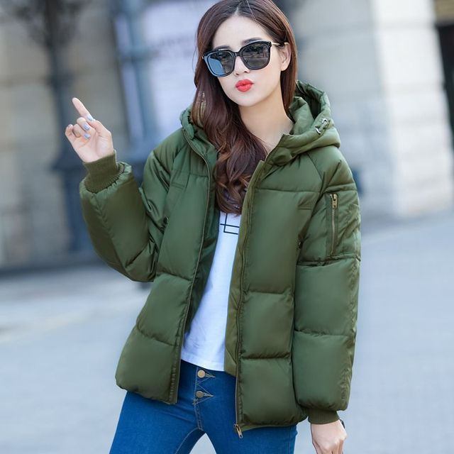 2016 High Quality Female Winter Jackets And Coats Slim Women Stand Collar Thicken fluffy plaid Warm Down Parkas Jacket