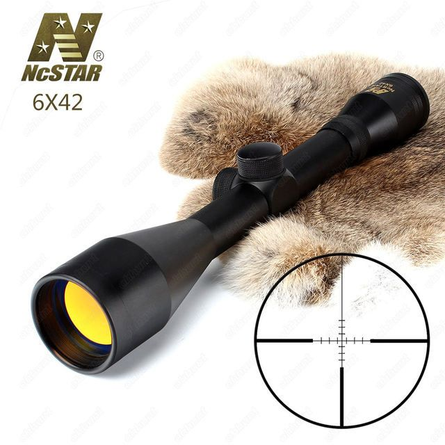 Hunting Rifle Scope 6X42 P4 Sniper Full Size Fixed Magnification 6X Tactical Optical Sight Ruby Coating