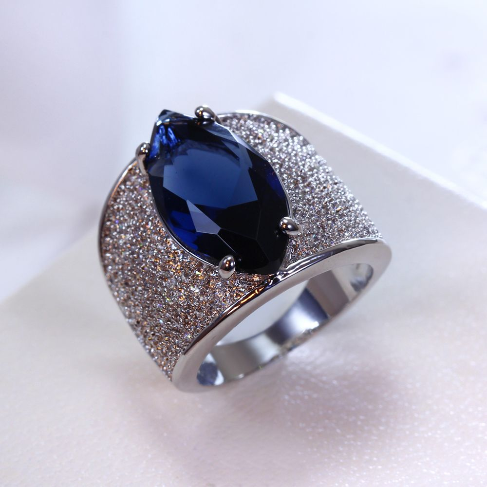 Super Sell Women Big Red Stone Pave Setting Ring AAA Cubic Zirconia Lead Free Rings Engagement Fashion Jewellery