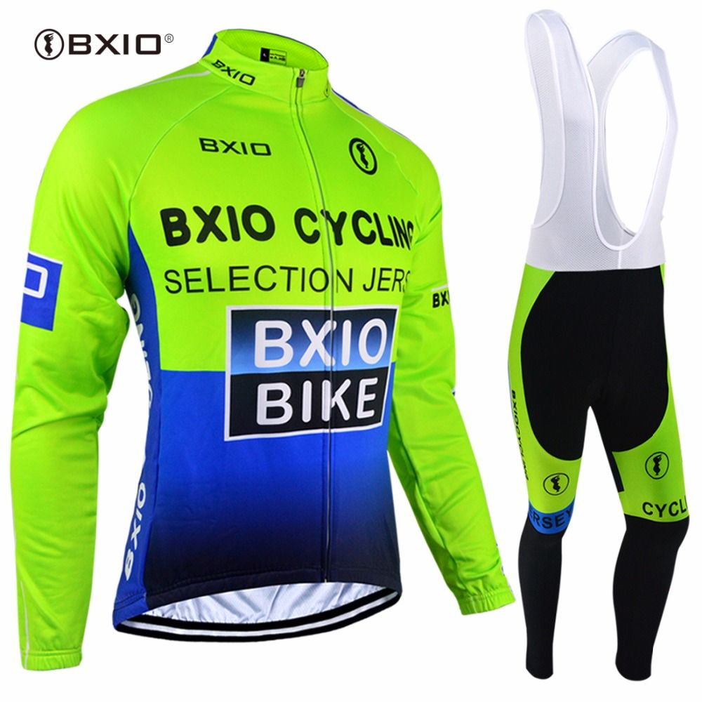 Winter Thermal Fleece Cycling Clothing Long Sleeve Cycling Jersey MTB Bike Jerseys Men's Pro Bicycle Clothes Bike Wear BXIO 004