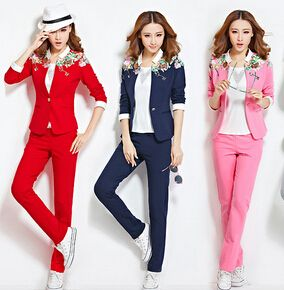 New spring  female suit Big yards slim leisure 3-piece sportwear suit Small suit Free shipping