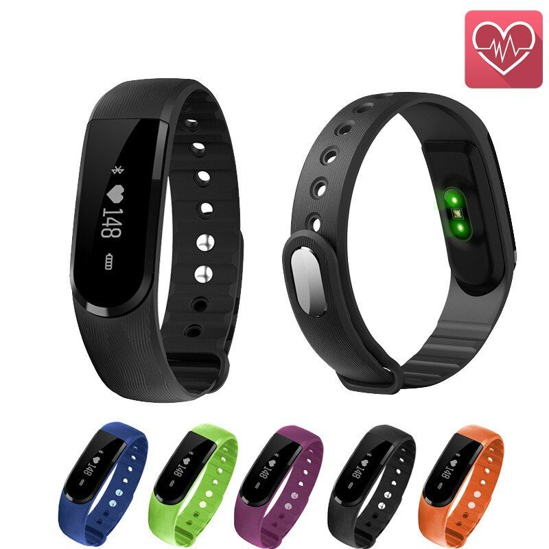 ID101 Smart Bracelet BT4.0 Heart Rate Monitor Smartband Pulse Sports Fitness Activity Tracker Wristband Android IOS VS ID107