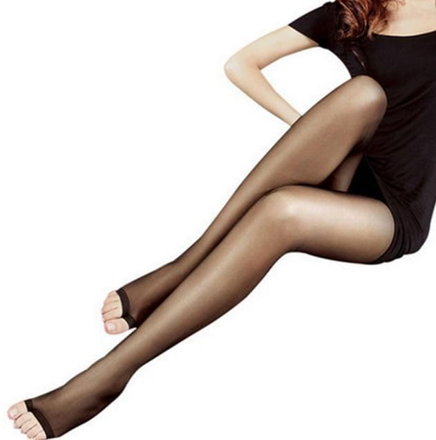 Sexy Lady Pantyhose Fashion Tights With Open Fingers Bas Nylon Sheer Ultra-Thin Breathable Stocking 4 Colors Spring Summer CI230