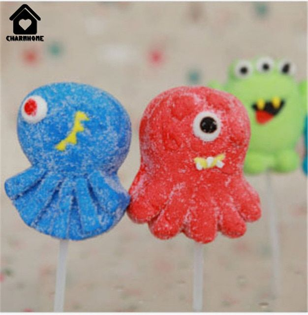 CharmHome 45g marshmallow candy cute monster series branch imported china food