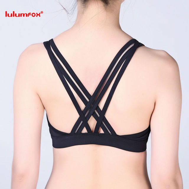 0128 Customized Sexy Sports Bra Cross Back Bra Sport Underwear Women Yoga Fitness Brassiere Sports Wholesale Strappy Bra