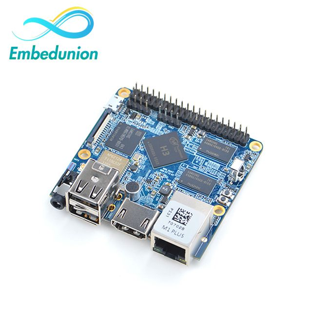 FriendlyARM Allwinner H3 Quad-core Cortex-A7 NanoPi M1 Plus Demo Board(1.2GHz,1GB DDR3 RAM,8GB eMMC)+MicroUSB Cable+Antenna
