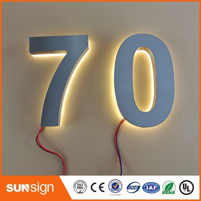 Custom solar apartment Number light house number