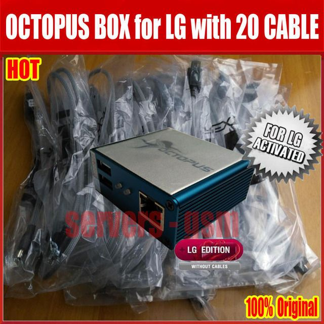 100% Original Octopus box for LG repair IMEI UNLOCK flash rom The world's best  instrument  with 20 cables