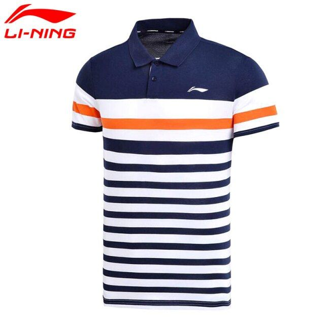 Li-Ning Men's Training Polo T-Shirt 55% Cotton 45% Polyester LiNing T Shirt Sports Tee Tops APLM111 MTP462