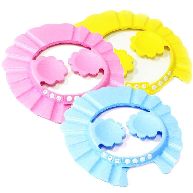Solid Plastic Resizable Baby Shower Cap Caps For Children Hat Visor For Swimming Baby Caps Baby Hat Dushevaya Watering TXY9