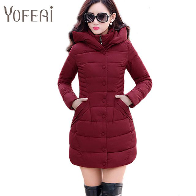 YOFEAI  2016 Winter Coat For Women Long Style Jacket Fashion Casual Coat Warm Parka Down & Parkas Plus Size