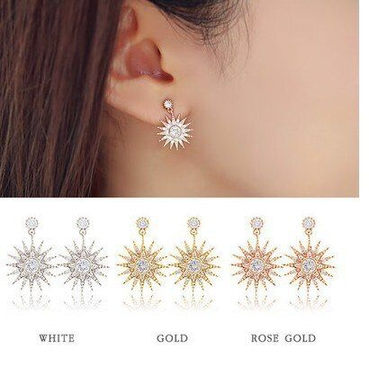 The Birth Of The New South Korean Drama Beautiful Earrings Sarah Han Yese With Snowflake Earrings Double Sided Earring