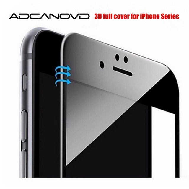 3D curved full cover tempered glass for iPhone 6 6s 7 8 plus edge glossy carbon fiber screen protector film on iphone x