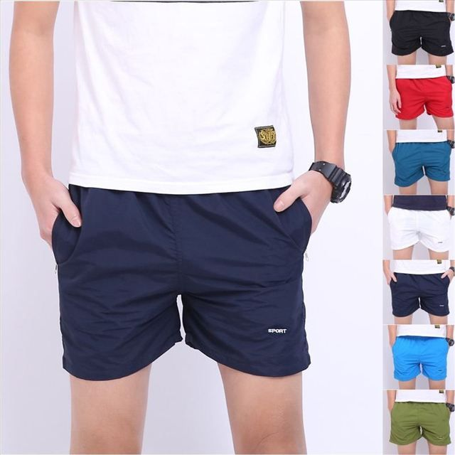 Men Basic Beach Sweatpants Causal Shorts Fitness Men's Shorts Quick Drying Fashion Trousers High Quality 7 Colors