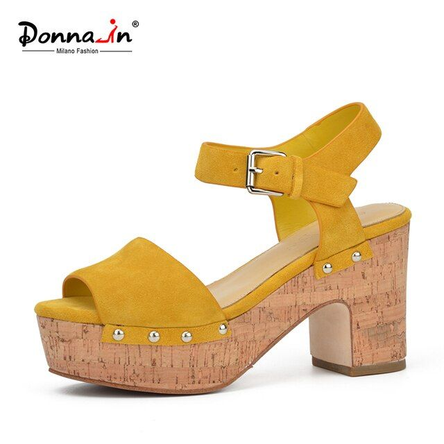 Donna-in 2017 summer new styles fashion platform thick high heel open toe ladies sandals