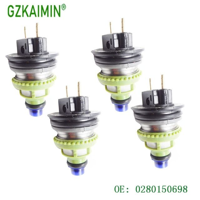 SET 4 NEW AND High quality  Fuel Injector nozzle INJECTION FOR   Monopunto/Clio 0280150698 0 280 150 698
