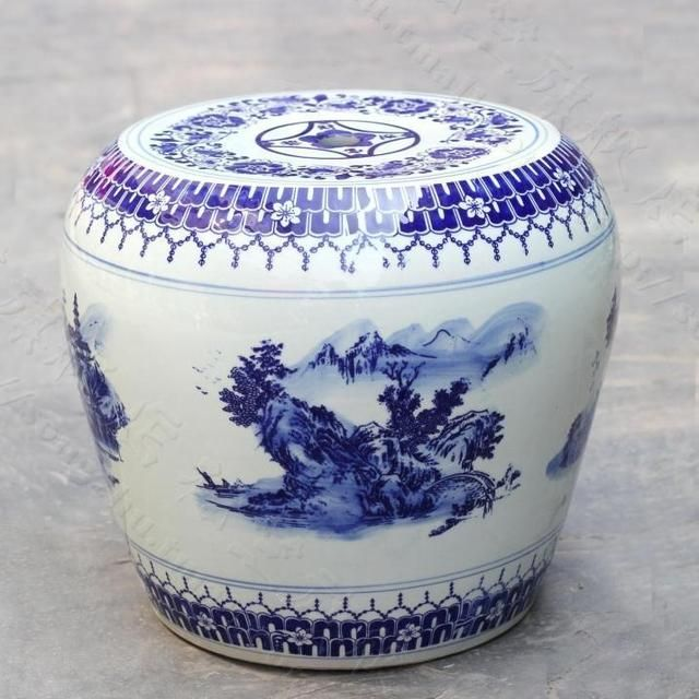 Traditional Blue And White Chinese ceramic Stool home decoration dressing stool shoes changing stool blue and white stools