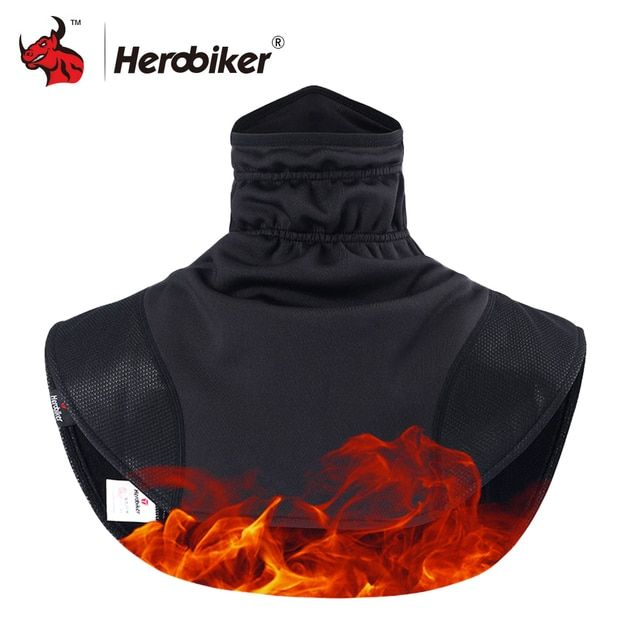 HEROBIKER Motorcycle Thermal Balaclavas Scarf Motorcycle Headwear Neck Fleece Cap Face Shield Balaclava Windproof Warm Moto Mask