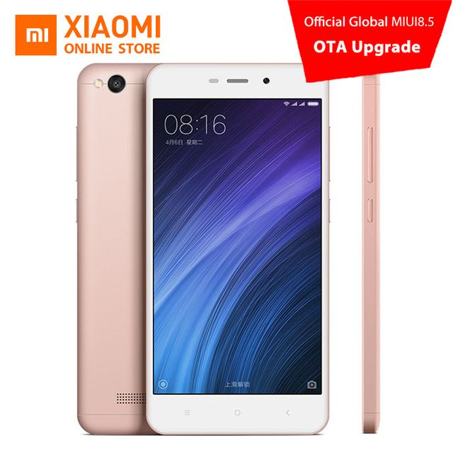 Global Version Original Xiaomi Redmi 4A Mobile Phone Snapdragon 425 Quad Core CPU 2GB 16GB 13.0MP 3120mAh Battery MIUI8.5 OS