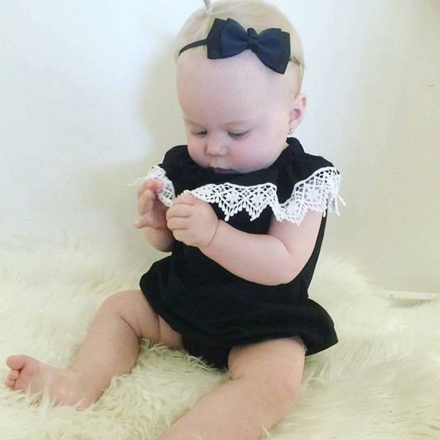 0-2Y Baby Girls Summer Clothes Newborn Baby Sleeveless Bodysuits Infant Body Jumpsuit Clothing Overalls Cotton Wear V2
