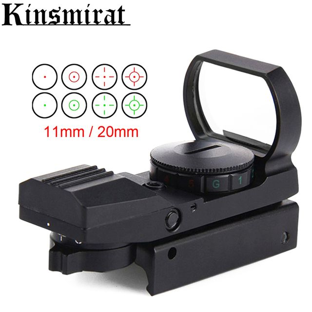 Electric Red Dot Tactical Rifle Sight Scope Holographic 4 Reticle  with Mount Hunting Combat free shipping