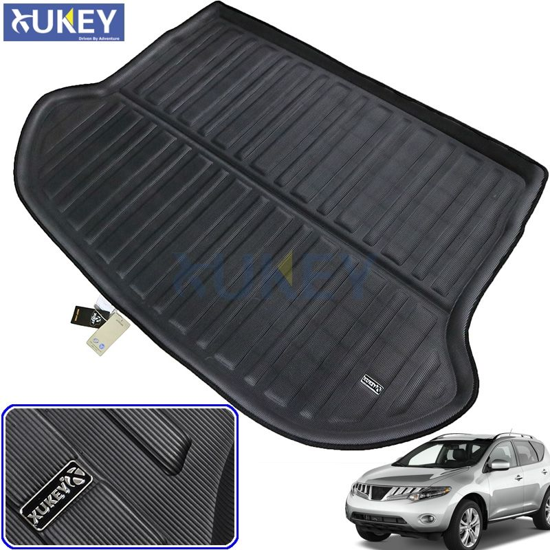 Car Rear Boot Liner Trunk Cargo Floor Mat Tray Mud Kick Protector For Nissan Murano / Z51 2009 2010 2011 2012 2013 2014