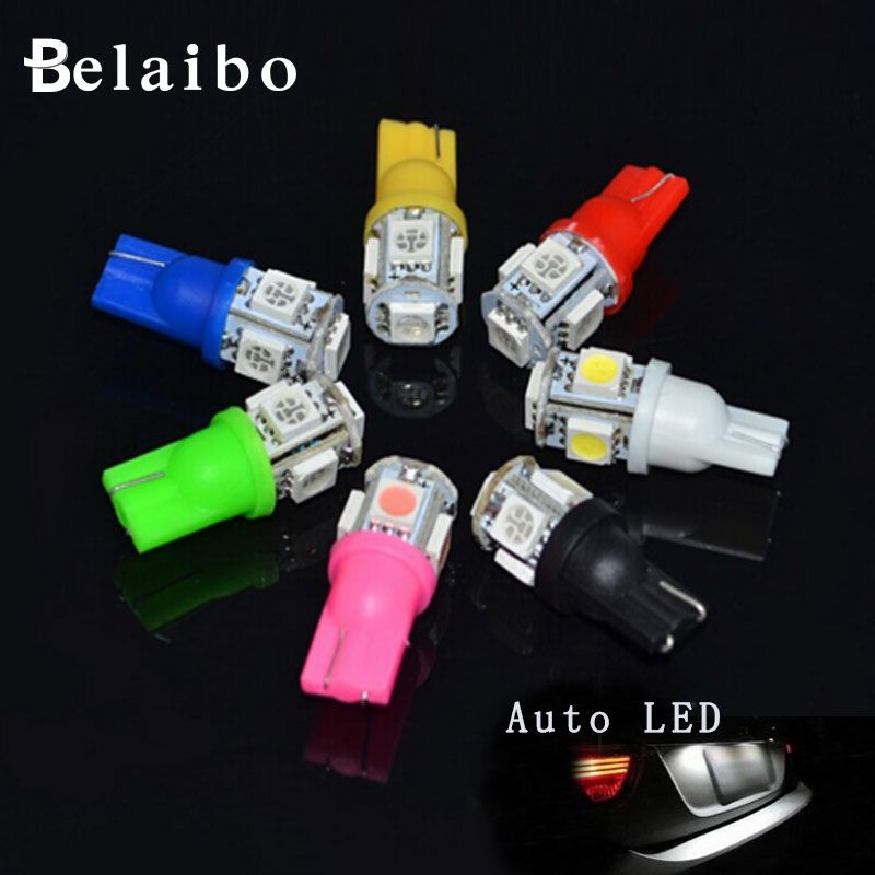 1PCS LED Nouveau parking HID Blanc LED Lumiere Ampoule Lampe T10 5 SMD 5Tou Car headlights