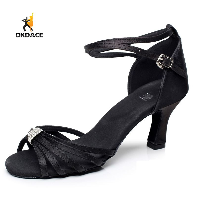 Latin/Ballroom/Tango/Salsa Dance Shoes For Women Girls Ladies Practice Shoes Sandals Satin Rhinestone  Black/Brown Wholesale