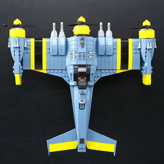 Lepin 22021 Technical Series The Beautiful Science Fiction Fighting Aircraft Set Building Blocks Bricks Educational Toys Gifts