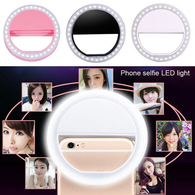 High Light Led Selfie Lamp Ring Light Portable Flash Camera Phone Photography Ring Light Enhancing Photography for Smartphone