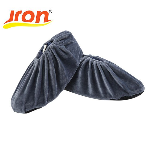 10 Pairs Reusable Indoor Dust Proof Shoes Cover Solid Color Outdoor Rain Overshoes Fabric Waterproof Wear-resistant Shoes Cover