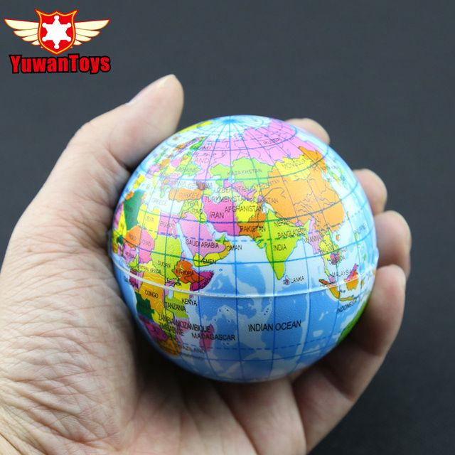 World Map Foam Earth Educational Toys Anti Stress Earth Ball Soft Sponge Squeeze Toys Autism Mood Relief Healthy Toys For kids
