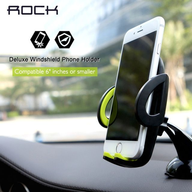 Rock Mobile Car Phone Holder Stand Adjustable Support 6.0 inch 360 Rotate For Iphone 6 Plus/5s Samsung galaxy note 7 S6 s7 edge