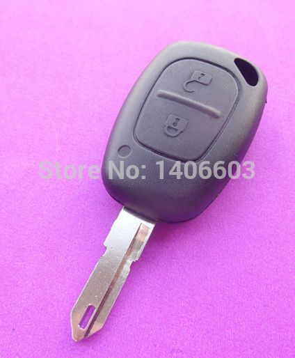 Replacement 2 Buttons car remote key for Renault Clio 433MHZ id46 chip