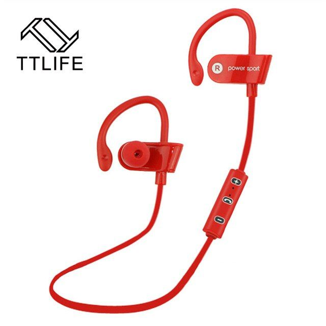 2017 TTLIFE Brand Stereo Earbuds Noise Reduction Earpiece With Mic Wireless Earphones Bluetooth 4.1 Sports Earphone For Phones