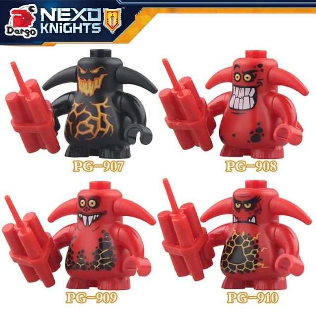 1PC Nexo Knights figure Castle Warrior Clay Macy Lance Balrog diy figures Building Blocks Model Toys For Kids Child Gift XMAS